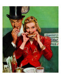 """Late Night Snack,"" March 22, 1941 Giclee Print by John LaGatta"