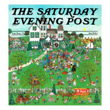 """Lawn Party,"" Saturday Evening Post Cover, August 1, 1974 Giclee Print by J. Sickbert"