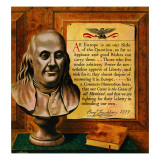 """Bust of Franklin,"" January 15, 1949 Giclee Print by John Atherton"