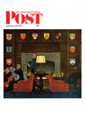 """Transitor Radio in the University Club,"" Saturday Evening Post Cover, September 29, 1962 Giclee Print by James Williamson"