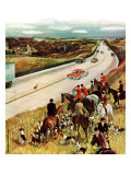 """Foxhunters Outfoxed,"" December 2, 1961 Giclee Print by John Falter"