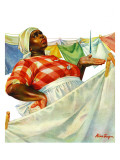 &quot;Rain on Laundry Day,&quot; June 15, 1940 Giclee Print by Mariam Troop