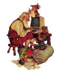 """Santa's Computer,"" December 1, 1982 Giclee Print by Scott Gustafson"
