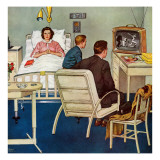 """Baseball in the Hospital,"" April 29, 1961 Giclee Print by Amos Sewell"