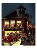 """Fireman's Ball,"" February 1, 1982 Giclee Print by Ben Kimberly Prins"