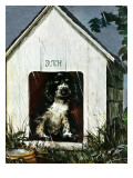 """""""In the Doghouse,"""" April 24, 1948 Giclee Print by Albert Staehle"""