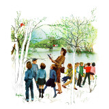 """Distracted Hikers,"" March 24, 1962 Giclee Print by George Hughes"