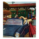 """Cramped Parking,"" March 5, 1960 Giclee Print by Richard Sargent"