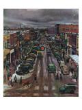 """Falls City, Nebraska at Christmas,"" December 21, 1946 ジクレープリント : ジョン・フォールター"