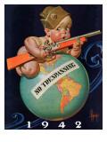 """""""No Trespassing,"""" January 3, 1942 ジクレープリント : ジョセフ・クリスチャン・ライエンデッカー"""