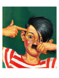 """Boy Mimicking Hitler,"" January 23, 1943 Giclee Print by Mat Kauten"