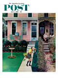 """Tidy and Sloppy Neighbors,"" Saturday Evening Post Cover, July 1, 1961 Giclee Print by John Falter"