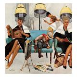 """Cowboy addormentato in un salone di bellezza"", 6 maggio 1961 Stampa giclée di Kurt Ard"