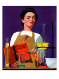 """Freshmen Chemistry,"" May 4, 1940 Giclee Print by John Hyde Phillips"