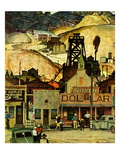 """The Silver Dollar,"" November 10, 1945 Giclee Print by Mead Schaeffer"