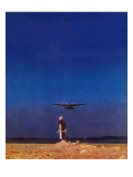 """Airplane Takeoff,"" April 6, 1940 Giclée-Druck von Charles De Soria"