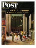&quot;Windy City,&quot; Saturday Evening Post Cover, March 23, 1946 Giclee Print by John Falter