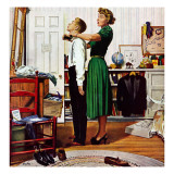 """Readying for First Date,"" October 16, 1948 Giclee Print by George Hughes"