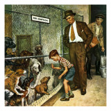 """Dog Pound,"" September 17, 1949 Giclee Print by Amos Sewell"