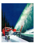 """Highway Snowplow,"" January 18, 1941 Giclee Print by Ski Weld"