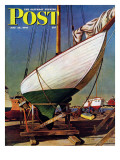 """Dry Dock,"" Saturday Evening Post Cover, May 25, 1946 Giclee Print by John Atherton"