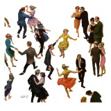 """Different Dancing Styles,"" November 4, 1961 Gicléetryck av Thornton Utz"