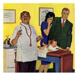 """Baby's First Shot,"" March 3, 1962 Giclee Print by Richard Sargent"