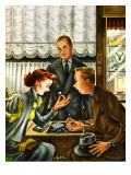"""Engagement Ring,"" May 7, 1949 Giclee Print by Constantin Alajalov"