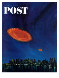 """Are Flying Saucers Real,"" Saturday Evening Post Cover, December 17, 1966 Giclee Print by Paul Calle"
