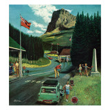 """U.S./Canadian Border at Waterton-Glacier,"" August 5, 1961 Giclee Print by Ben Kimberly Prins"