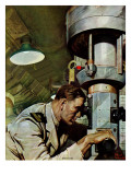 """Up Periscope!,"" April 22, 1944 Giclee Print by Mead Schaeffer"
