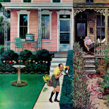"""Tidy and Sloppy Neighbors,"" July 1, 1961 Giclee Print by John Falter"