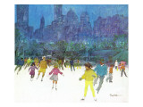 &quot;Ice Skating in Central Park,&quot; January 5, 1963 Reproduction proc&#233;d&#233; gicl&#233;e par Frank Mullins