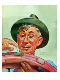 """Patching a Tire,"" December 5, 1942 Giclee Print by Howard Scott"