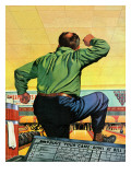 """""""Bowling a Split,"""" January 6, 1945 Giclee Print by Stan Ekman"""