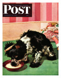 """Clothespinned Butch,"" Saturday Evening Post Cover, February 10, 1945 Giclee Print by Albert Staehle"