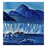 """Navigating Through Icebergs,"" July 19, 1941 Giclee Print by Dale Nichols"