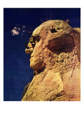 """Repairing Mr. Rushmore,"" February 24, 1940 Giclee Print by Lincoln Borglum"