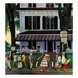 &quot;Inn in Ogunquit,&quot; August 2, 1947 Giclee Print by John Falter