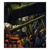&quot;Gun Factory,&quot; November 18, 1944 Giclee Print by Robert Riggs