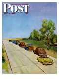 """Highway Patrol,"" Saturday Evening Post Cover, July 16, 1949 Giclee Print by Jack Welch"