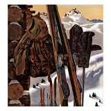 """Ski Equipment Still Life,"" February 3, 1945 Giclee Print by John Atherton"