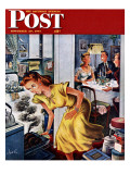 """Burnt Turkey,"" Saturday Evening Post Cover, November 29, 1947 Giclee Print by Constantin Alajalov"