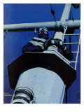 """Naval Lookout,"" November 7, 1942 Giclee Print by Mead Schaeffer"