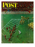 """Third Down, Goal to Go,"" Saturday Evening Post Cover, October 15, 1949 Giclee Print by Thornton Utz"