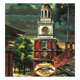 """Independence Hall, Philadelphia, Pa.,"" June 2, 1945 Giclee Print by Allen Saalburg"