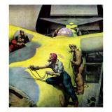 &quot;Airplan Defense Factory,&quot; June 24, 1944 Giclee Print by Robert Riggs