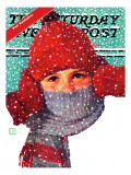 """Bundled Up,"" Saturday Evening Post Cover, Jan/Feb 98 Giclee Print by Douglas Crockwell"