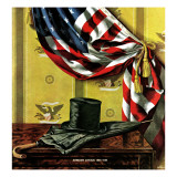"""Commemorating Lincoln's Birthday,"" February 12, 1944 Giclee Print by John Atherton"