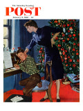 """Christmas Thank You Notes,"" Saturday Evening Post Cover, January 9, 1960 Giclee Print by George Hughes"